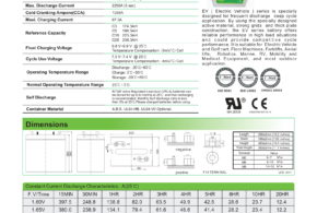 Battery Ritar EV6-225 pengganti Trojan T105